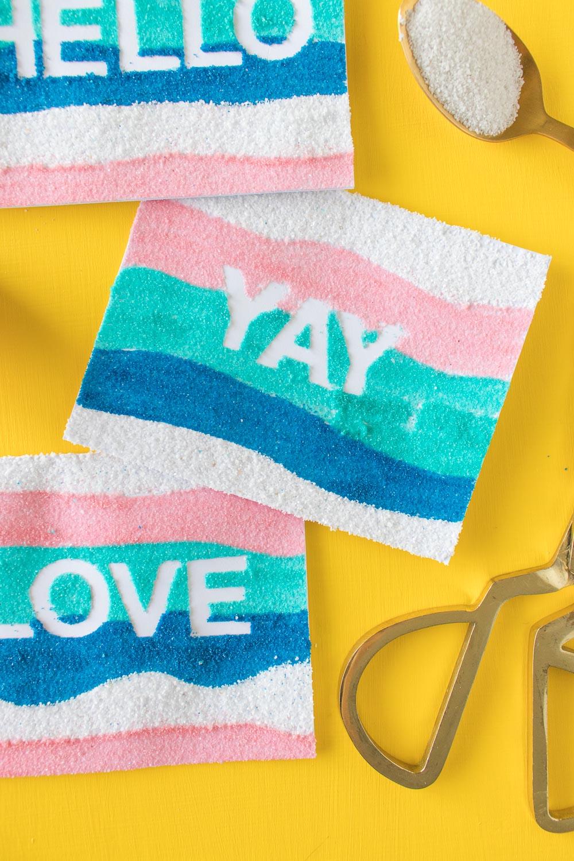 DIY Sand Art Cards   Club Crafted