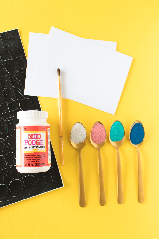 DIY Sand Art Cards | Club Crafted