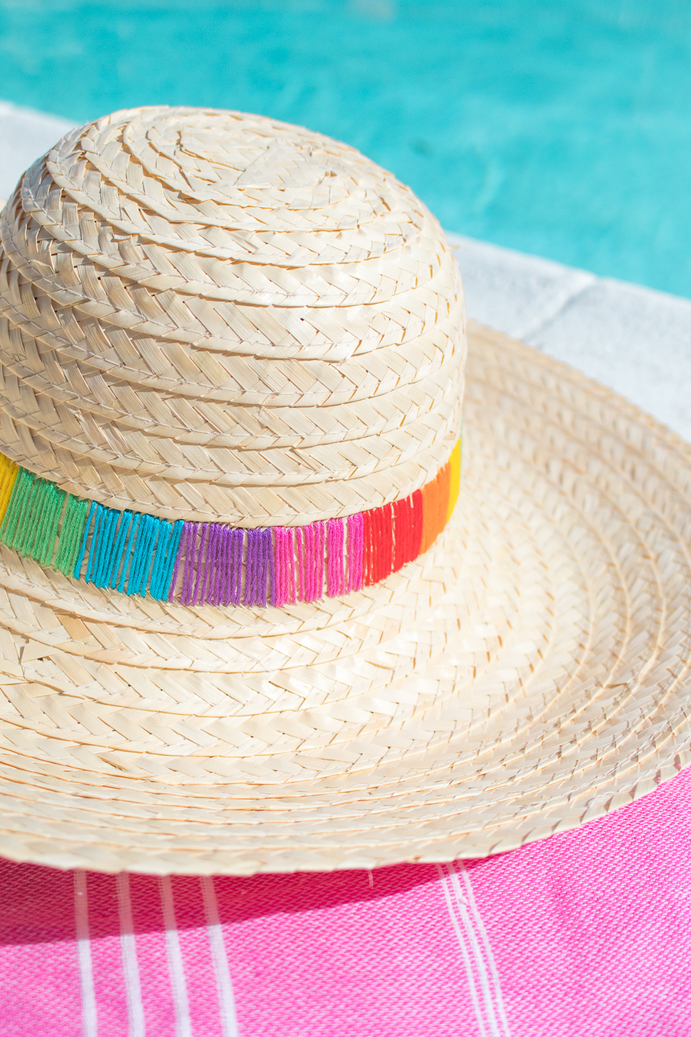 DIY Embroidered Sun Hat | Club Crafted