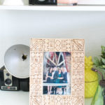 DIY Mud Cloth Wood Burned Frame