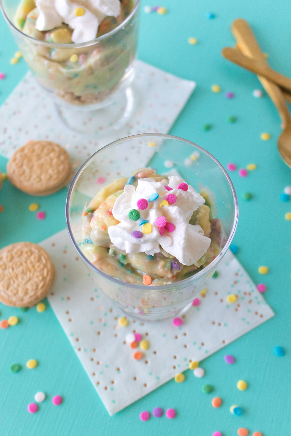 Cake Batter Pudding Cups | Club Crafted