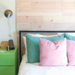 Renter-Friendly DIY Plank Accent Wall