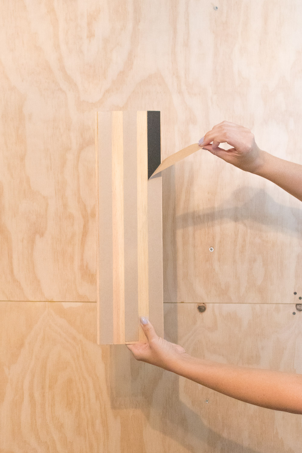 Renter-Friendly DIY Plank Accent Wall   Club Crafted