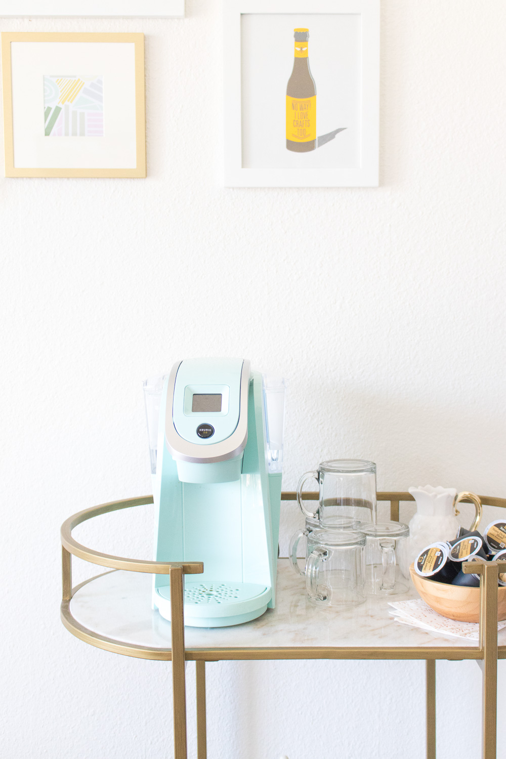 Double Duty: From Bar Cart to Coffee Cart   Club Crafted