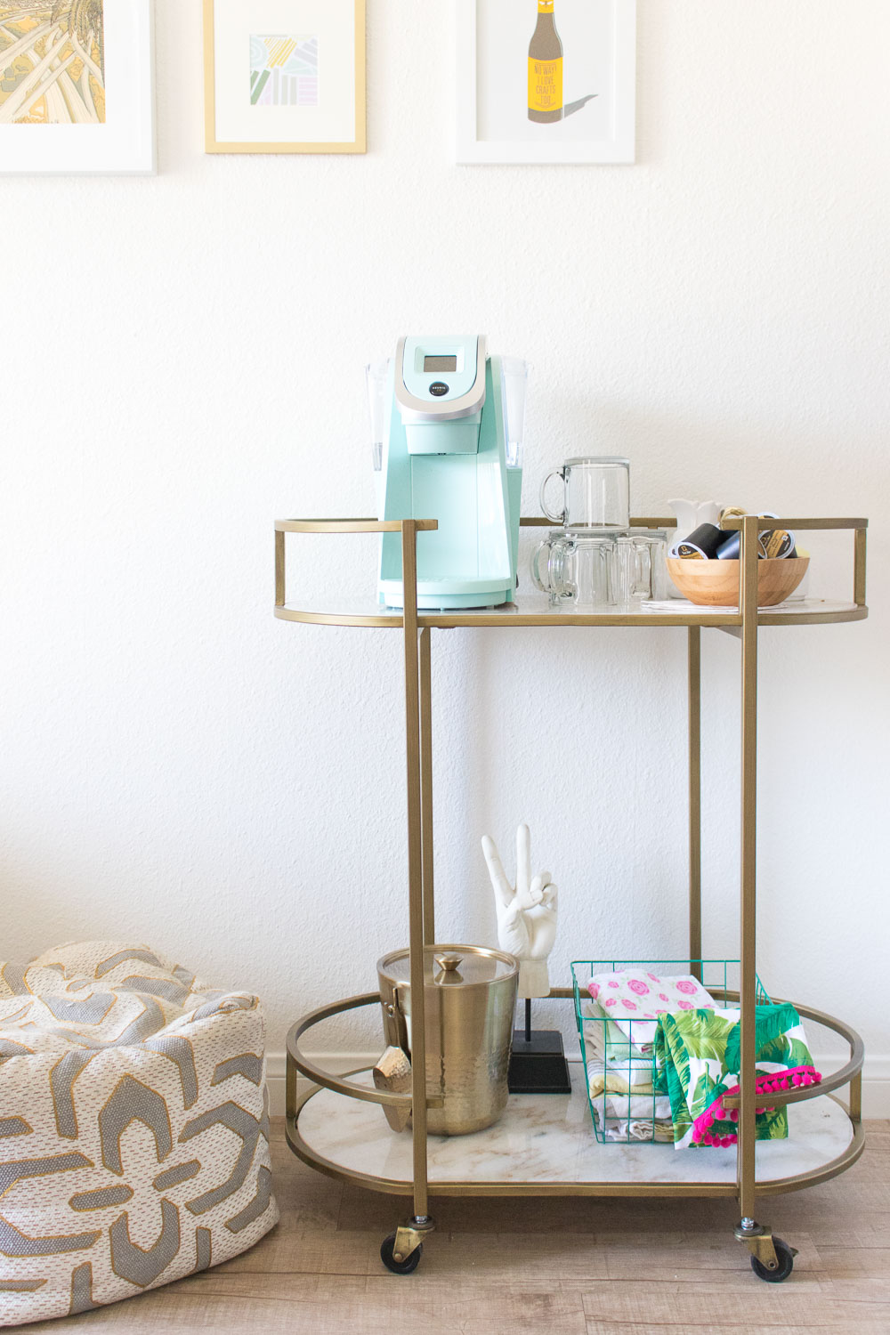 Double Duty: From Bar Cart to Coffee Cart | Club Crafted