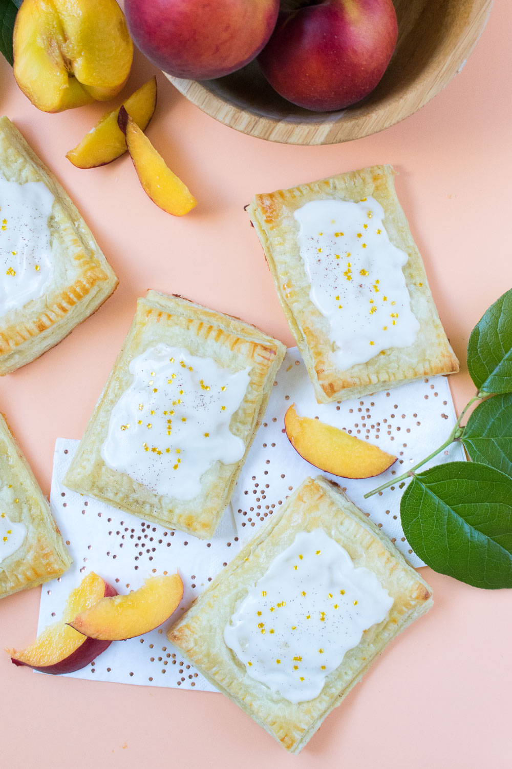 Peaches & Cream Pastries | Club Crafted