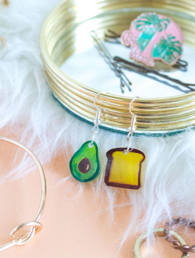 DIY Avocado Toast Earrings | Club Crafted