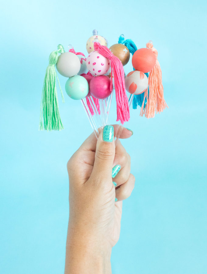 DIY Bead & Tassel Drink Stirrers