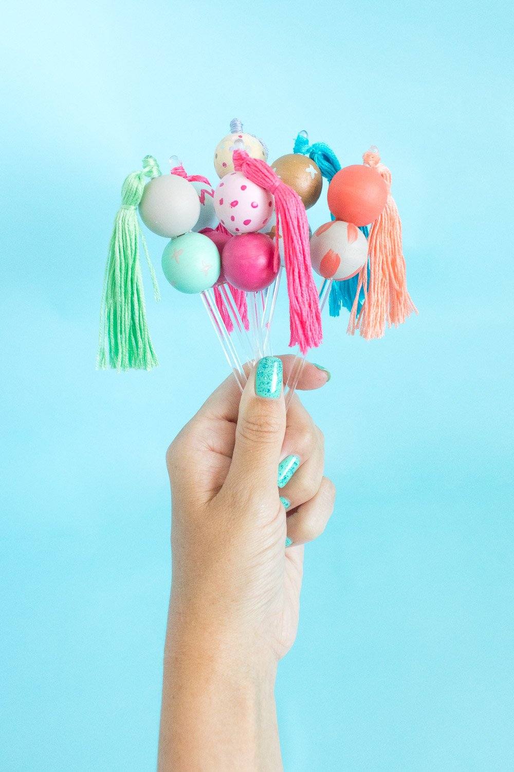 DIY Bead & Tassel Drink Stirrers | Club Crafted