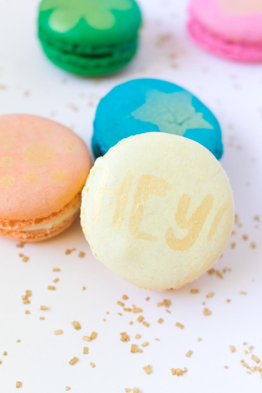 DIY Stenciled Macarons | Club Crafted