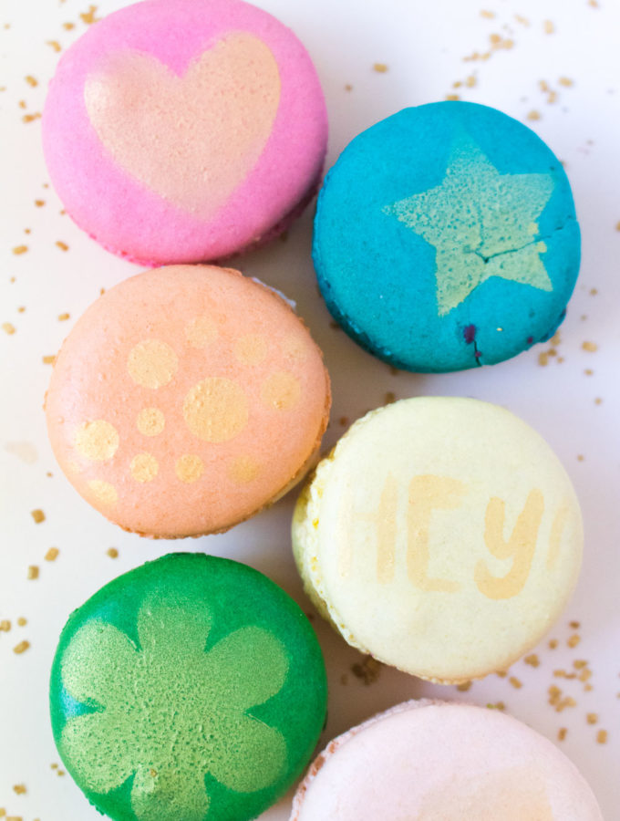 DIY Stenciled Macarons