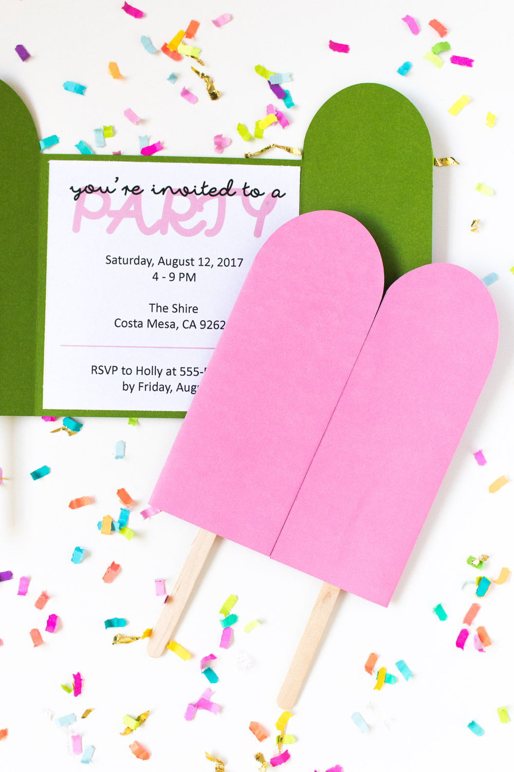 picture about Popsicle Printable named Do it yourself Popsicle Invites + Totally free Printable! Club Created
