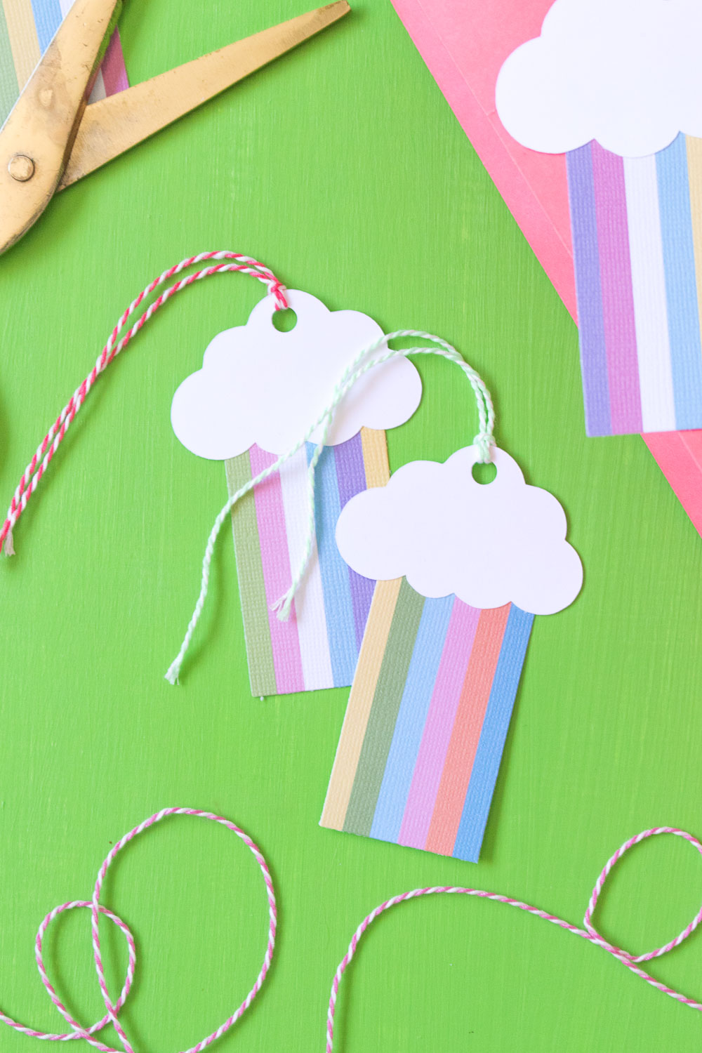 DIY Rainbow Gift Tags | Club Crafted