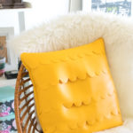 DIY Leather Scalloped Pillow