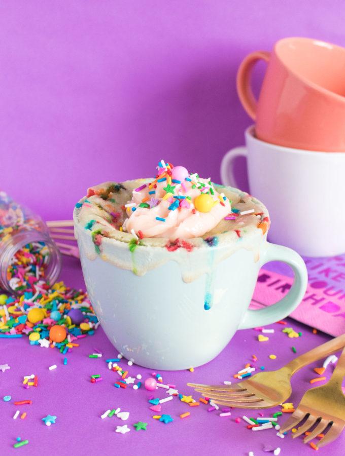 Funfetti Mug Cake for One