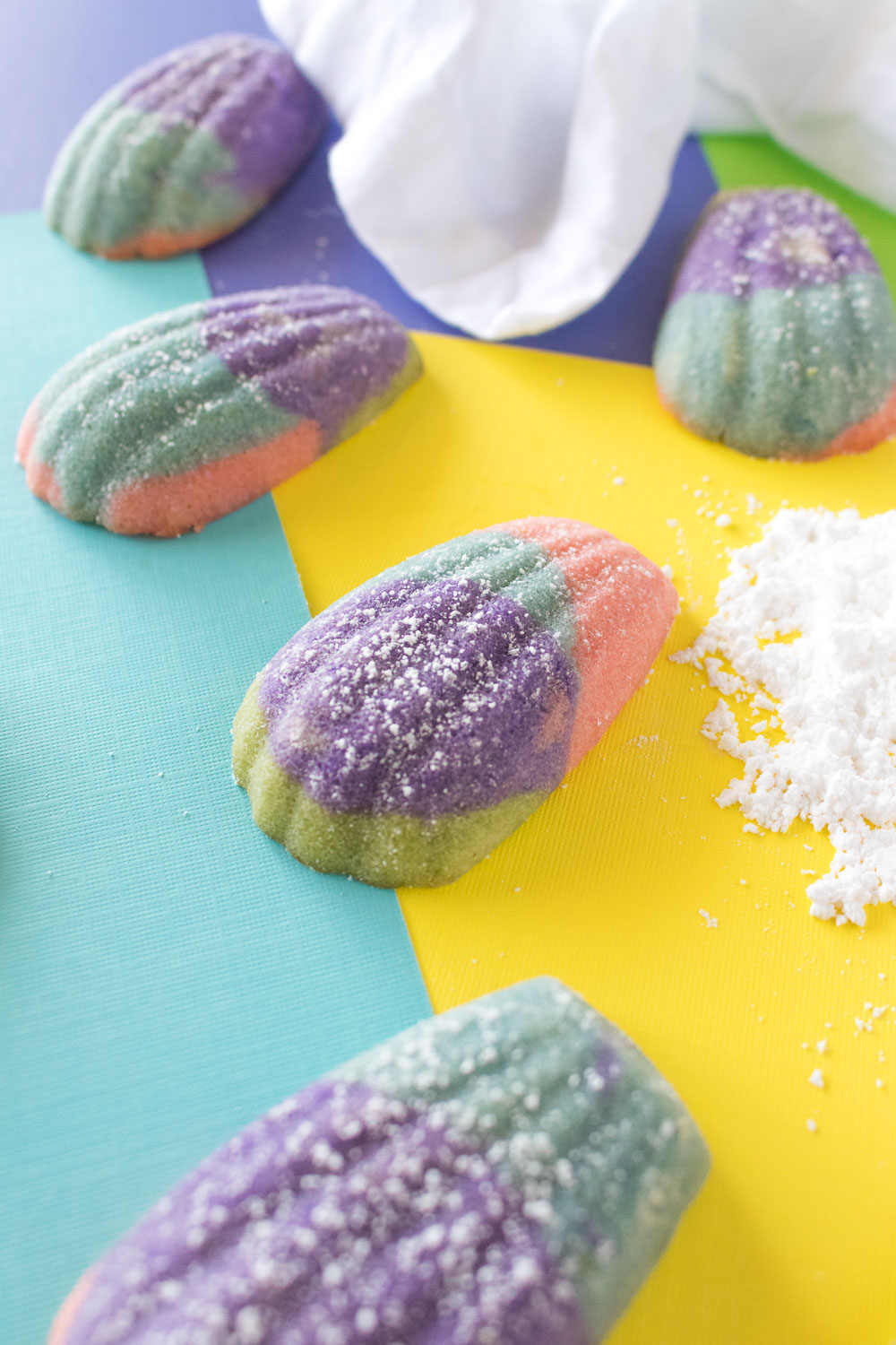 Color Block Madeleines (French Butter Cakes)   Club Crafted