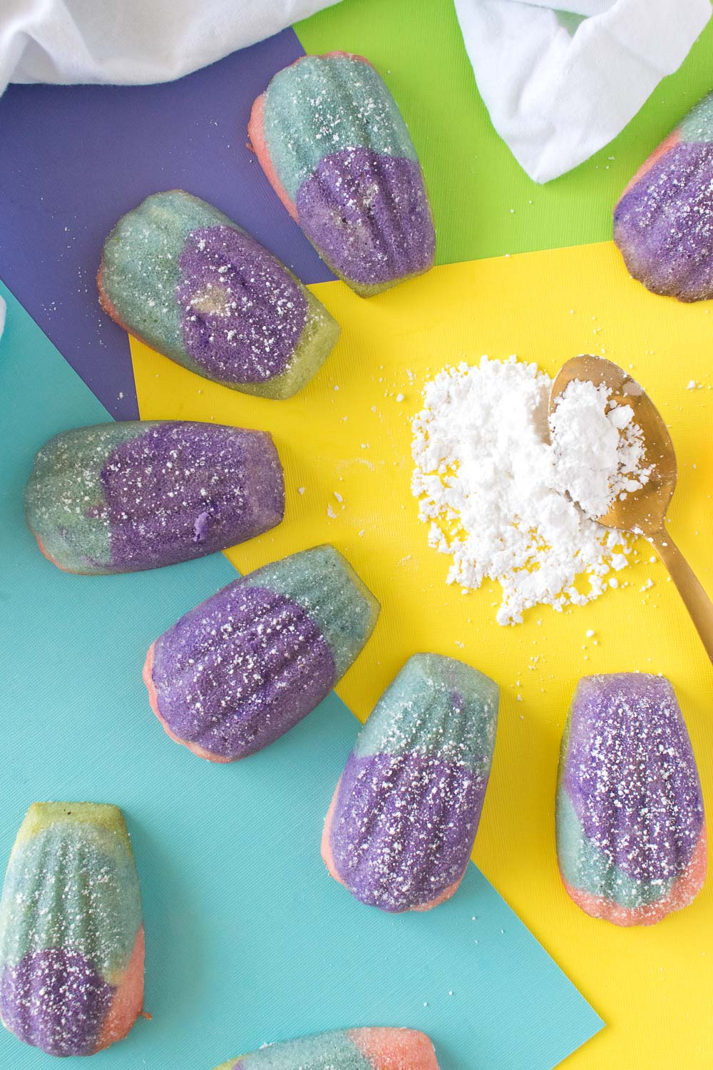 Color Block Madeleines (French Butter Cakes) | Club Crafted