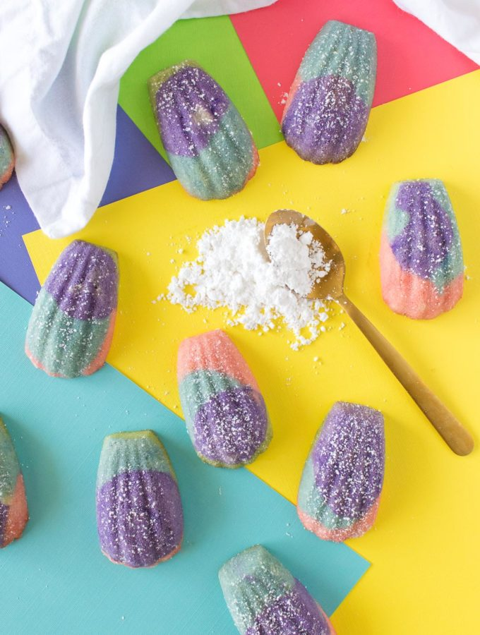 Color Block Madeleines (French Butter Cakes)