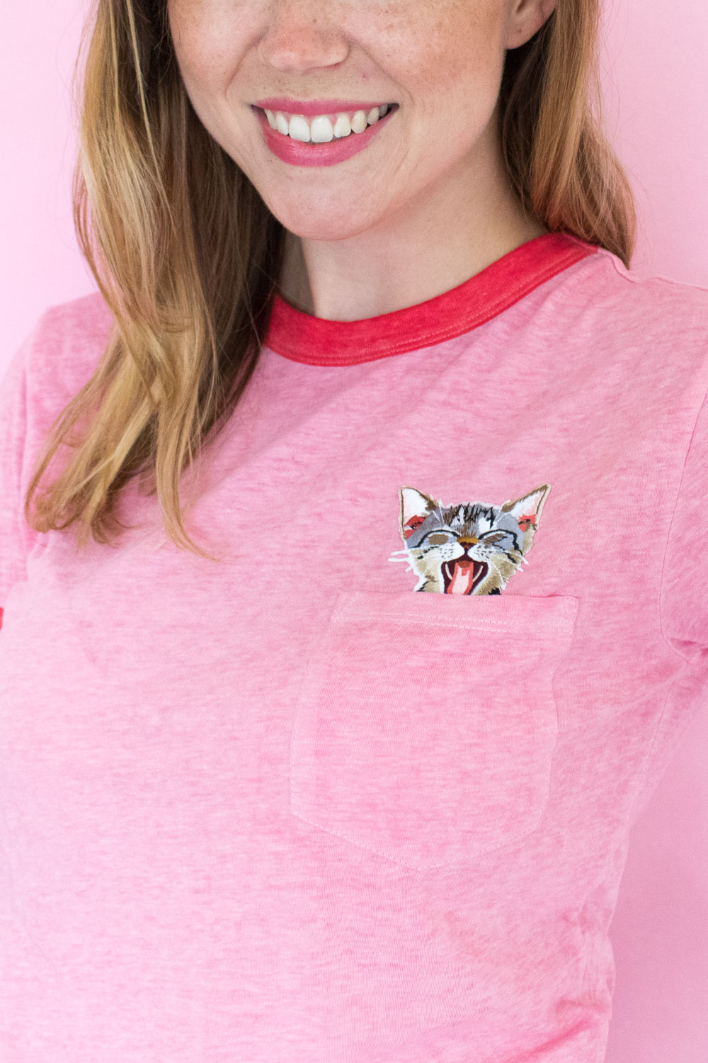 DIY Peekaboo Patch T-Shirt | Club Crafted