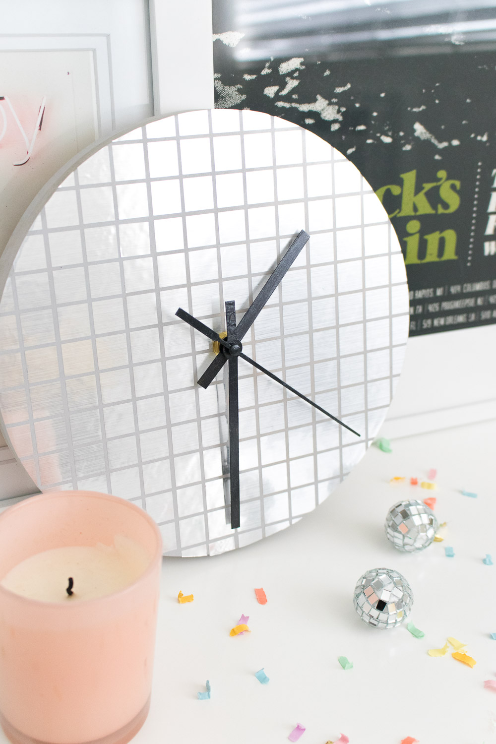 DIY Disco Ball Clock | Club Crafted