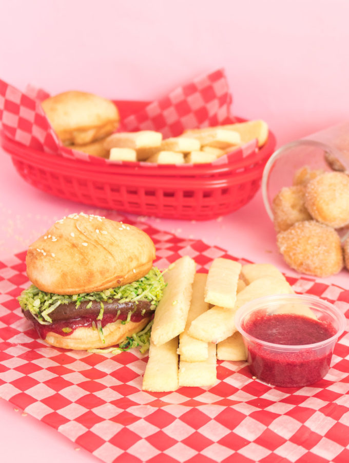 Donut Burgers + Cookie Fries