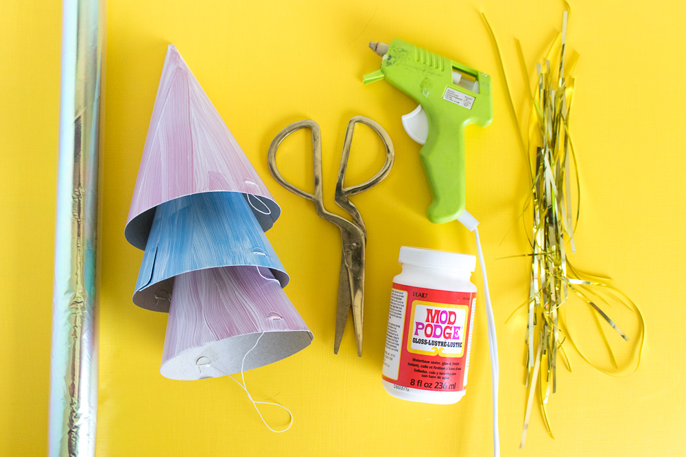 DIY Iridescent Party Hats | Club Crafted