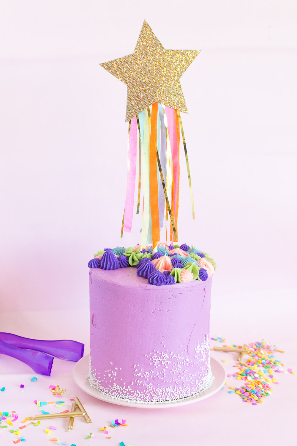 DIY Shooting Star Cake Topper | Club Crafted