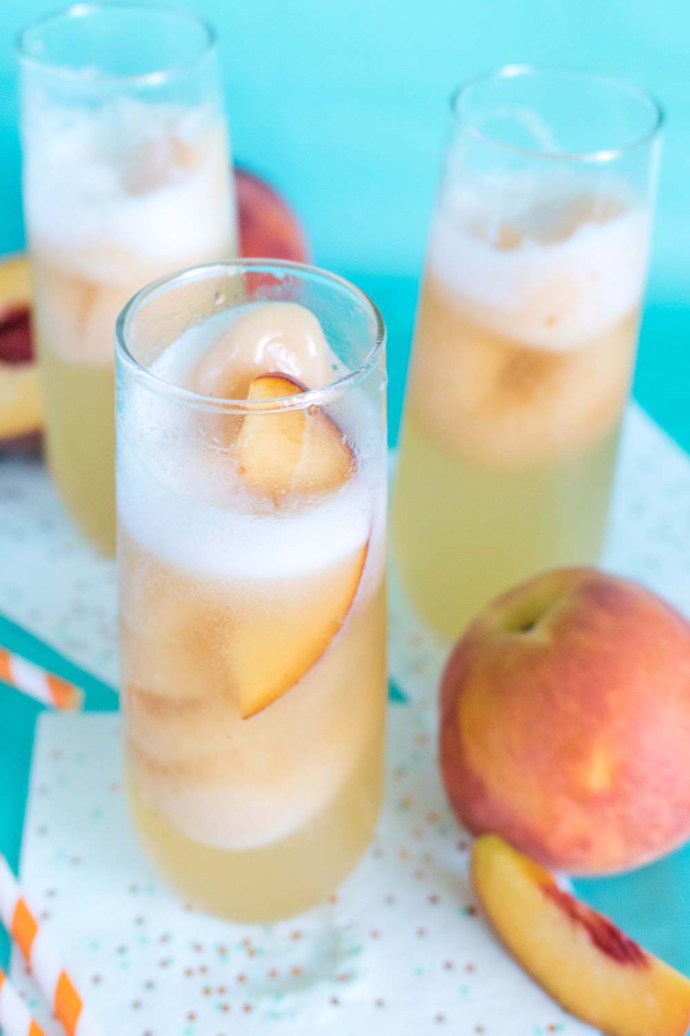 Sparkling Peach Floats | Club Crafted