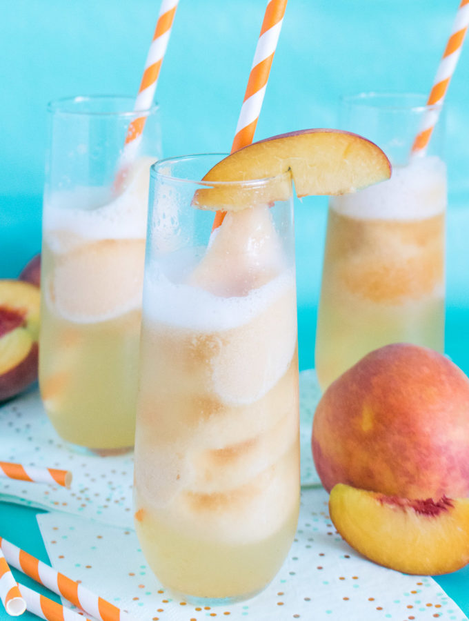 Sparkling Peach Floats