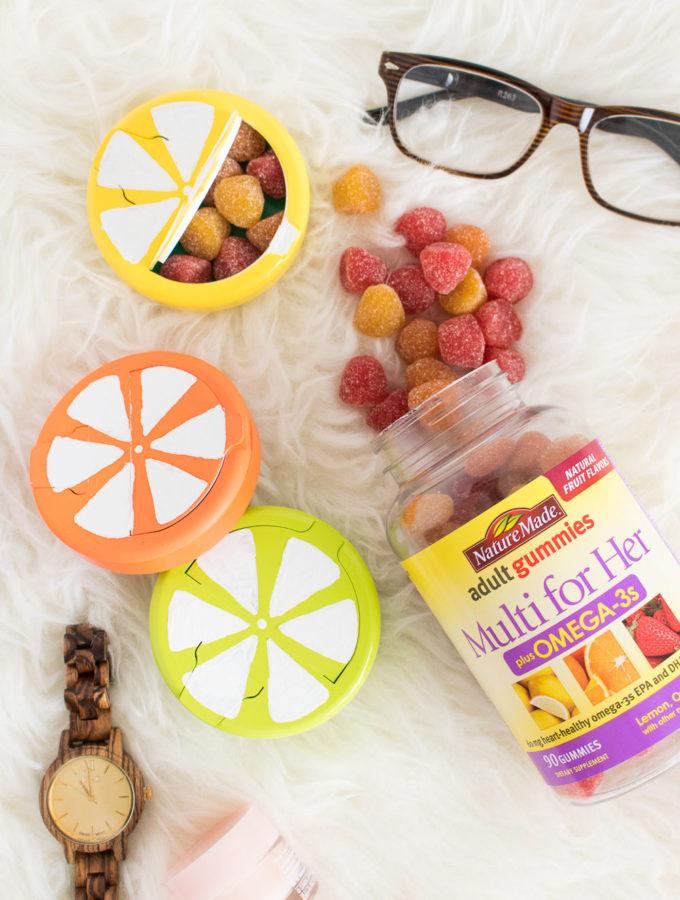 DIY Fruit Slice Vitamin Cases