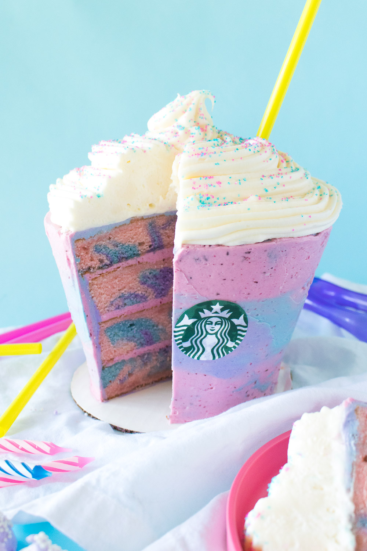 Unicorn Frappuccino Cake | Club Crafted