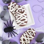 Chocolate Mummy Cookies for Halloween! (Cake Batter Cookies)