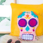 DIY Día de los Muertos Sugar Skull Pillow [+ a Video!]