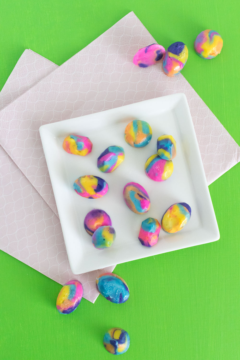 Tie Dye Butter Mint Gems | Club Crafted