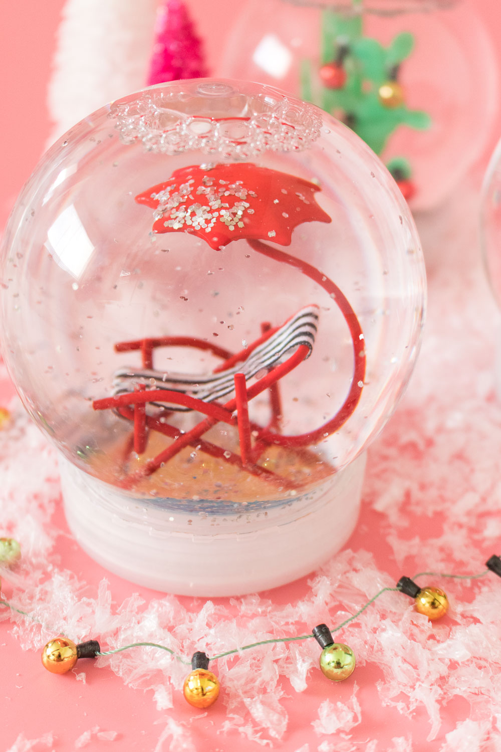 how to make fake snow for snow globe