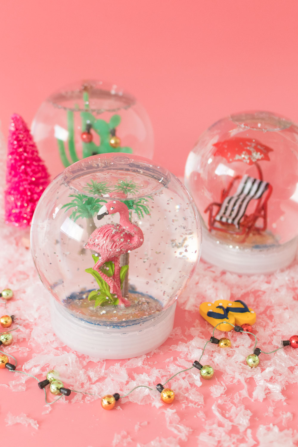DIY California Snow Globes