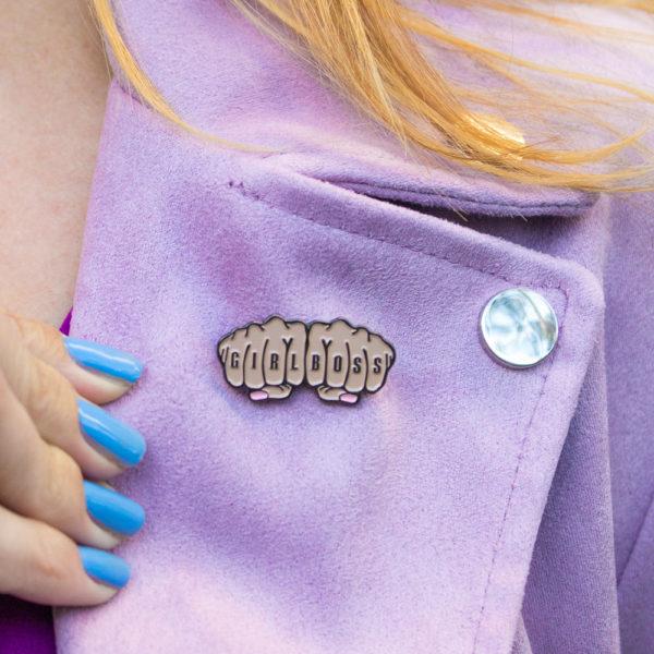 """Girlboss"" Enamel Pin   Club Crafted"