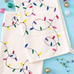 DIY Christmas Light Towels [+ a Video!]