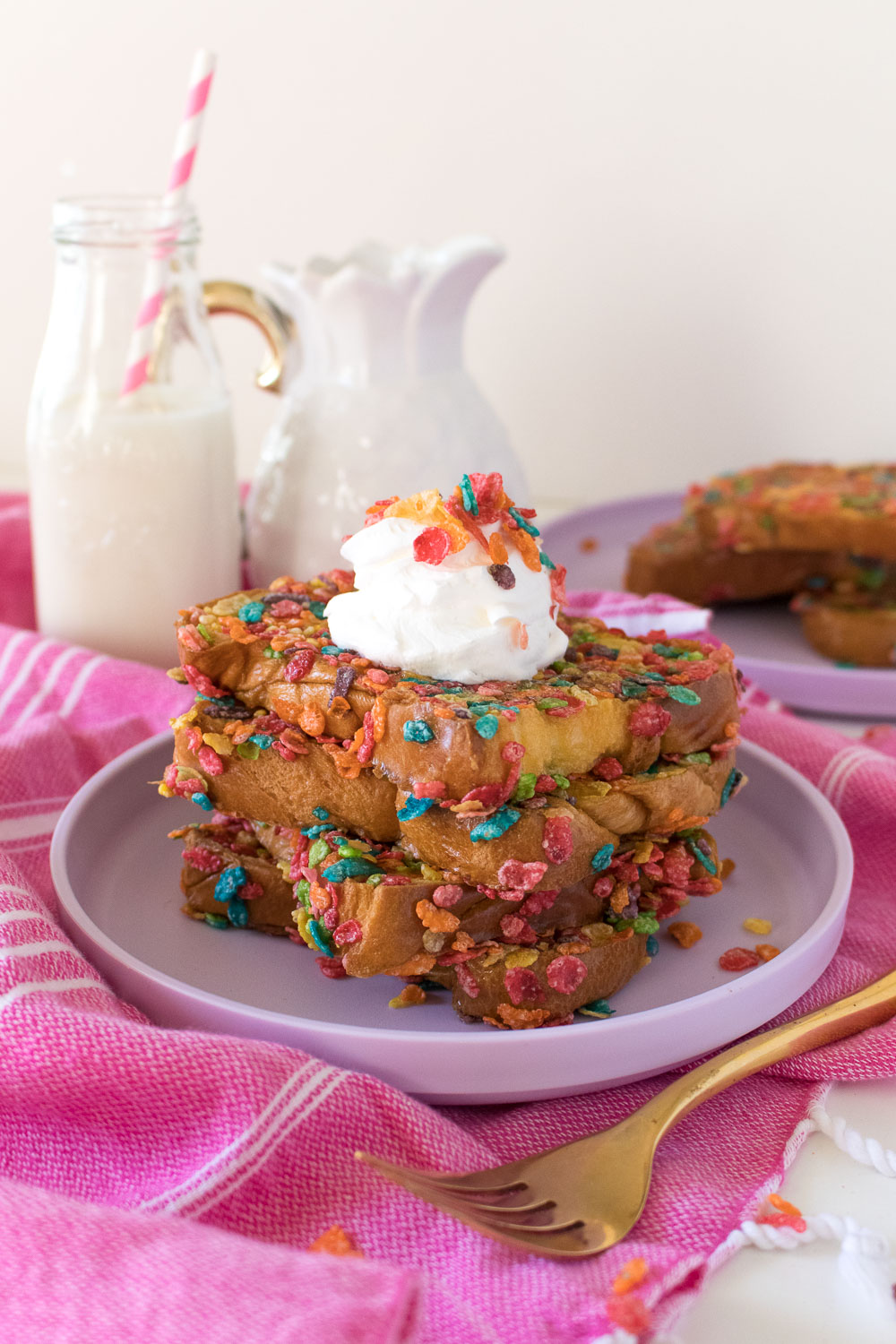 Fruity Pebble French Toast   Club Crafted