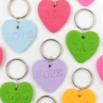 DIY Embossed Heart Keychains