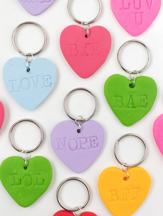DIY Embossed Heart Keychains | Club Crafted