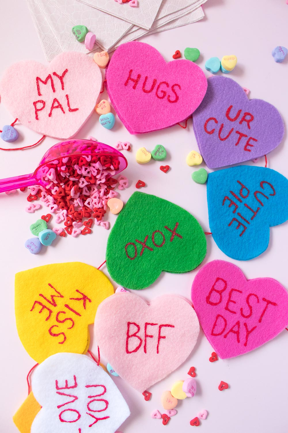 DIY Conversation Heart Banner for Valentine's Day | Club Crafted