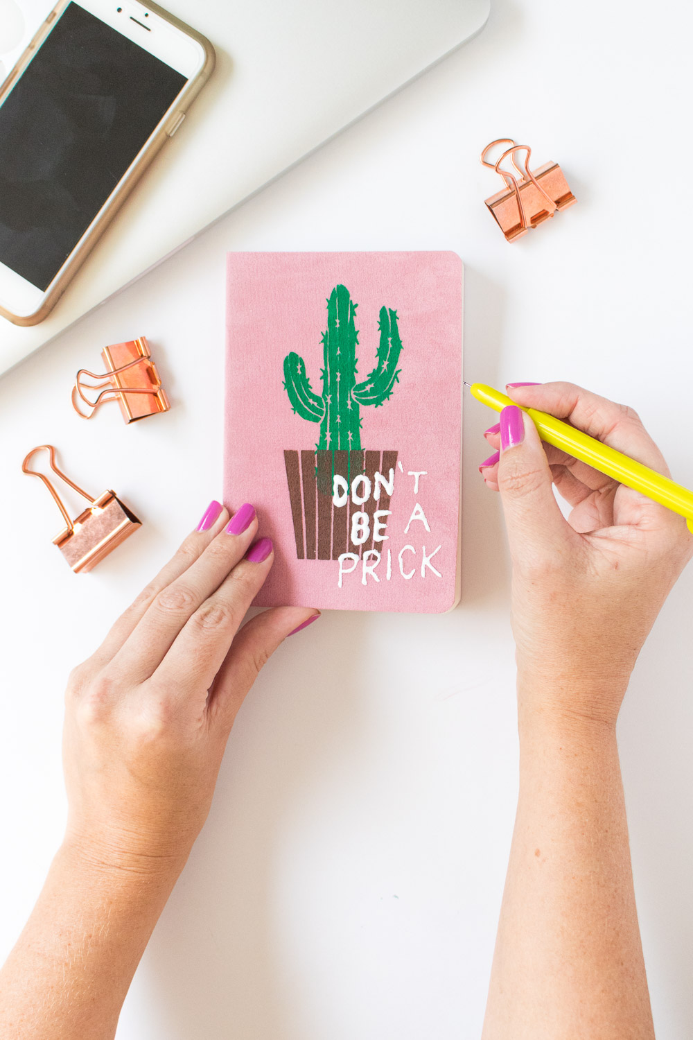 DIY Punny Cactus Notebook | Club Crafted