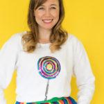 DIY Sequin Lollipop Sweatshirt [+ a Video!]