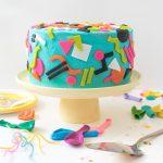 Throwback! Tie Dye 90s-Inspired Cake