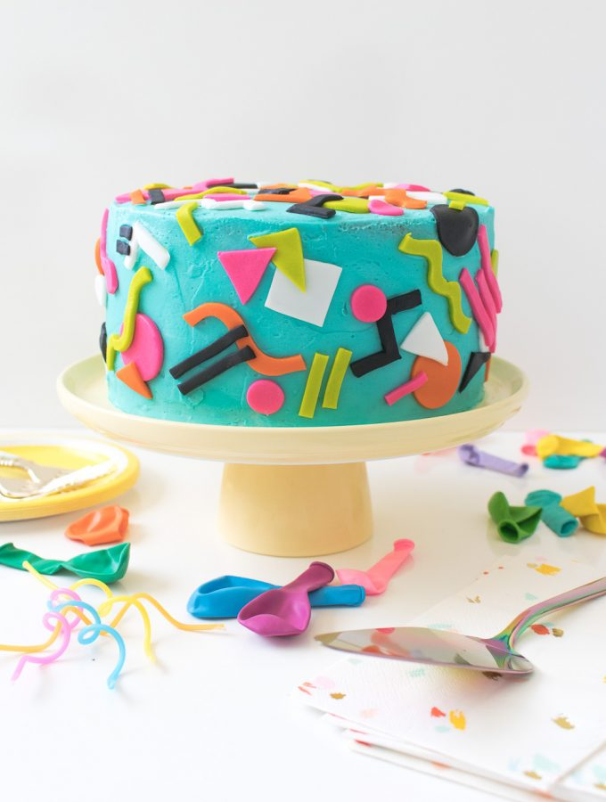 Throwback! Tie Dye 90s-Inspired Cake