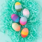 DIY Gradient Easter Eggs