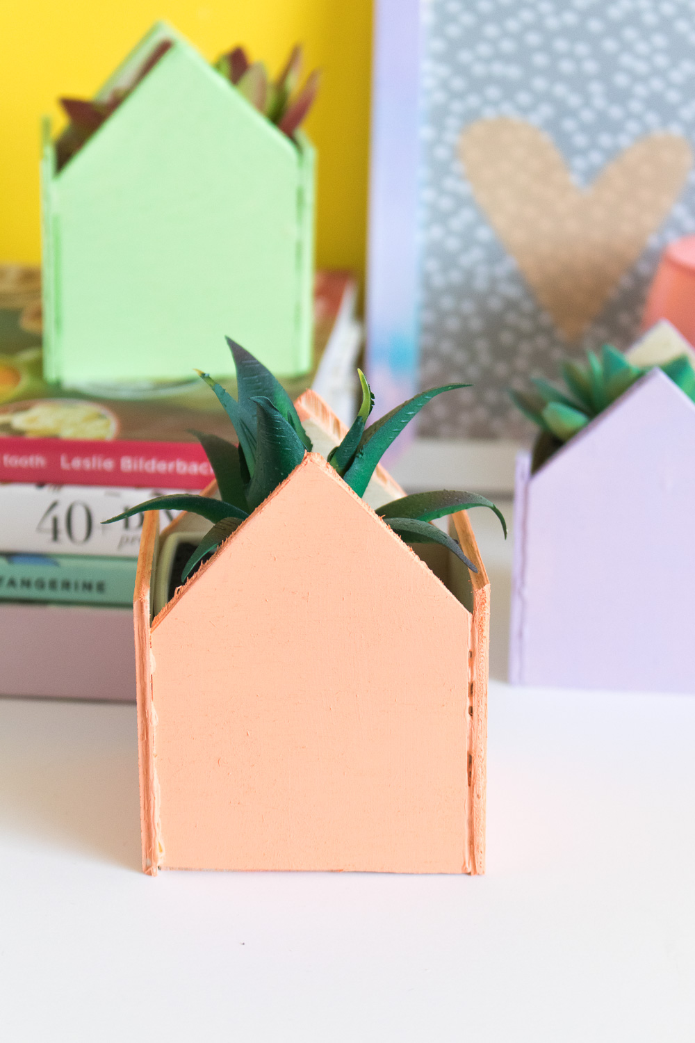 DIY Mini Pastel House Planters | Club Crafted