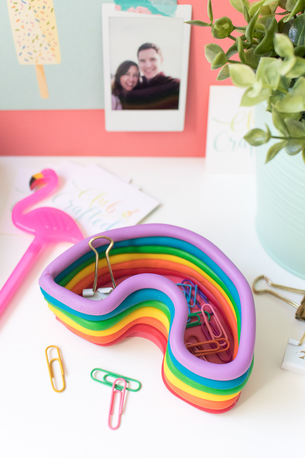 DIY Rainbow Catch-All Dish | Club Crafted