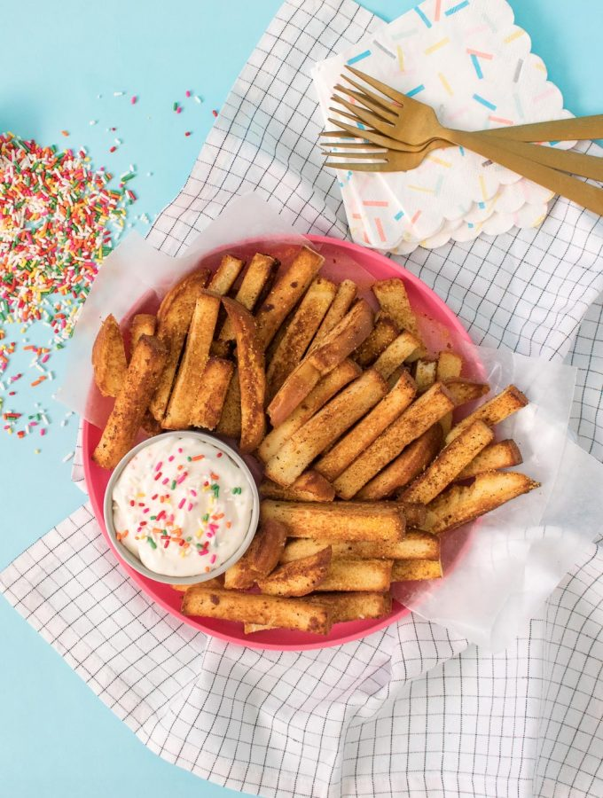 Cake Fries + Frosting Dipping Sauce